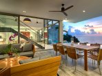 Malaiwana Duplex - Outside living and dining areas