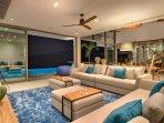 Malaiwana Duplex - Living room at night