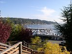 View from public park 2 miles from the home into Gig Harbor Marina. Great morning walk.