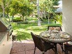 Any meal of the day is relaxing and enjoyable on this lanai.