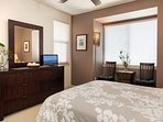 The second bedroom has a convenient and private layout.