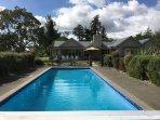 Pool and hot tub at the main house