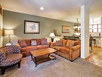 Curl up on one of the plush couches and warm up by the wood-burning stove.