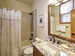 Freshen up in one of the 2 pristine bathrooms.