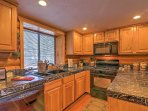 The fully equipped kitchen has everything you'll need to prepare a home-cooked meal.