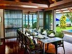 Villa Akatsuki Lipa Noi Koh Samui - Dining & Kitchen Pavilion