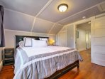 Enjoy restful nights in the king-sized bed in the third bedroom.
