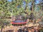 Kids will love jumping on the trampoline.
