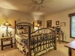 Get some rest in the master bedroom with a queen-sized bed, cable TV, and en-suite bathroom.