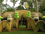decorations for the gamelan dance performance