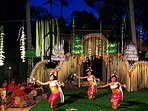 gamelan orchestra and dance troupe performing at Villa Madu