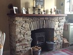Warm and cosy wood burner
