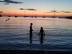 A dip in the Adriatic beneath yet another Rovinj sunset.