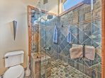 Master Suite Private Bath with Dual Vanities, Tub and Stone Shower