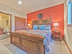 Lower Level Bedroom 3 with King Bed, Flat Screen TV and Shared Full Bath