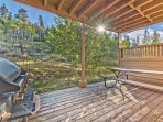 Lower Level Deck with Seating, a BBQ Grill and Amazing Views