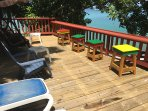 Lower Deck with Grenada Color Stools