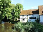 We are right by the river Lea, a great fishing spot and a lovely gastro pub specialising in steaks.