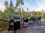 Grill stations and outdoor seating