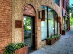 Entrance door on Church Street and within walking distance to many of Asheville's favorite shopping, dining and...
