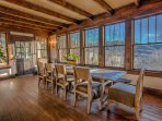 Dining room with views of Hot Springs and the French Broad River!