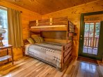 Bedroom #2 – Main Level Guest Suite - 2 Double/Twin Bunk Beds w/Private Full Bath - Walk-in Shower (#2)