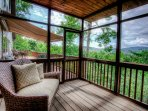 Screened in porch with long range views!