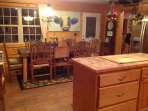 First farm table fully equipped kitchen