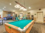 Blow off some steam in the game room with a ping pong table, pool table and arcade games.