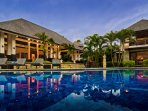 Blue skies & pool at Villa Menari Bali...