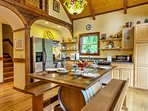 The fully equipped kitchen has everything you'll need to prepare home-cooked meals.