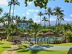View of Maui Ka'anapali Villas from the famous Ka'anapali Beach