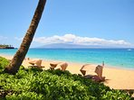Gorgeous Ka'anapali Beach directly in front of resort. The famous Black Rock snorkel spot is walking distance.