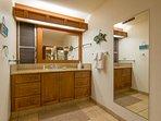Spacious wash room area
