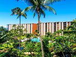 Located at North Kaanapali Beach with a sandy beach directly in front of the resort!