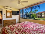 Master bedroom features a King size bed and flat screen TV