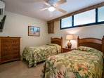 Second bedroom has recently been updated with a new queen size bed and one twin bed.