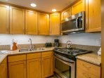 Clean, remodeled and fully stocked kitchen