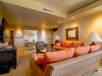 Spacious yet cozy family room area