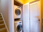Washer and dryer in villa for your use