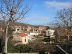 Countryside views of Aigues Vives from the bedroom