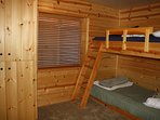 Bedroom with two twin bunk sets