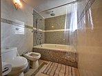 The home boasts 5 bathrooms.