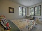 The upstairs bedrooms are great for those traveling in large groups!