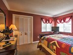 The master bedroom offers cozy accommodations for a peaceful night of sleep.