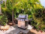 BBQ grills are available near pools.