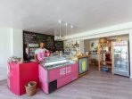 Joy cafe open for breakfast, brunch, lunch. There are you can find tasty home made ice cream