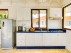 Kitchen is fully equipment, cealing fans, amazing Ocean View. Cook your favorite dish!