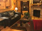 relax and gather with your friends or love one while enjoying watching tv or the fire place