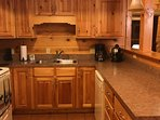 Full complete kitchen includes coffee pot/expresso/ salt & pepper & seasoning